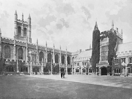 'Magdalen College-Cloister and Bell and Founder's Towers', c1896-Unknown-Photographic Print