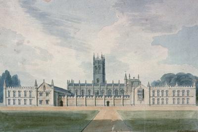 Magdalen College, Oxford, 1804-John Buckler-Giclee Print