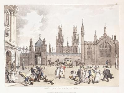 Magdalen College, Oxford, 1809-1811-Thomas Rowlandson-Giclee Print