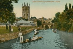 Magdalen College, Oxford, from the River