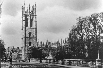Magdalen College, Oxford, Oxfordshire, Early 20th Century- Kingsway-Giclee Print