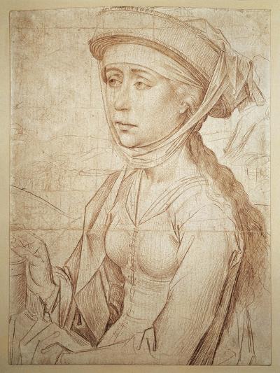 Magdalene Half-Figure Drawing--Giclee Print
