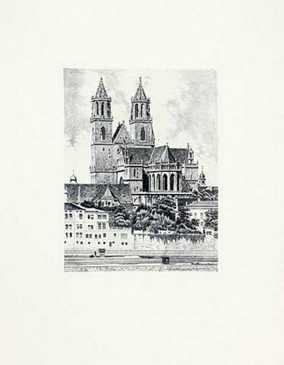 Magdeburg, Dom (hoch)-Bruck-Collectable Print