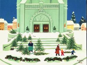 Christmas Tree Selling, 1988 by Magdolna Ban
