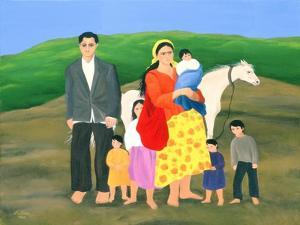 Gipsy Family, 1986 by Magdolna Ban