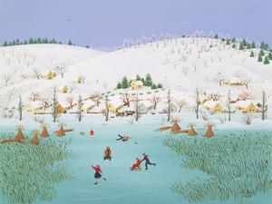 On the Frozen Lake, 1987 by Magdolna Ban