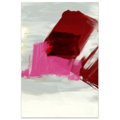 Magenta Abstract 1 - Free Floating Tempered Glass Panel Graphic Wall Art