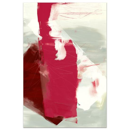 Magenta Abstract 2 - Free Floating Tempered Glass Panel Graphic Wall Art--Alternative Wall Decor
