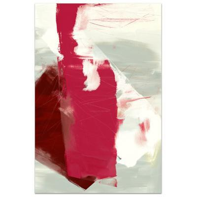 Magenta Abstract 2 - Free Floating Tempered Glass Panel Graphic Wall Art