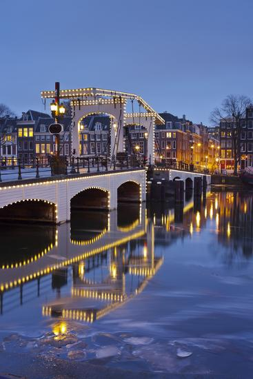 Magere Brug (Bridge), Amstel, Amsterdam, the Netherlands-Rainer Mirau-Photographic Print