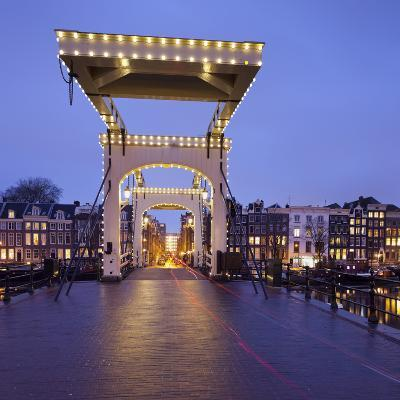 Magere Brug (Bridge), Amstel, Amsterdam, the Netherlands-Rainer Mirau-Photographic Print
