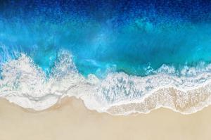 Aqua Ocean Waves From Above by Maggie Olsen