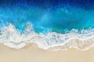 Aqua Ocean Waves From Above by Maggie Olsen