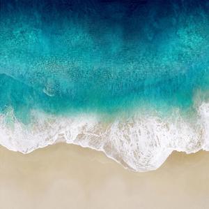 Aqua Ocean Waves III by Maggie Olsen