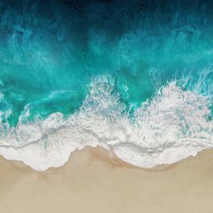 Aqua Ocean Waves IV by Maggie Olsen