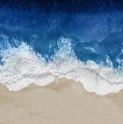 Indigo Ocean Waves IV by Maggie Olsen