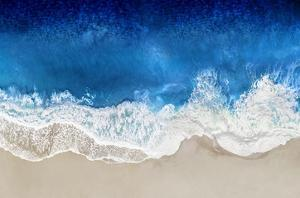 Indigo Waves From Above I by Maggie Olsen
