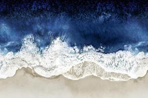Indigo Waves From Above II by Maggie Olsen