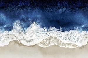 Indigo Waves From Above II by Maggie Olsen