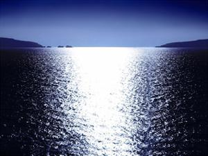 Sunlight Reflection - Blue by Maggie Olsen
