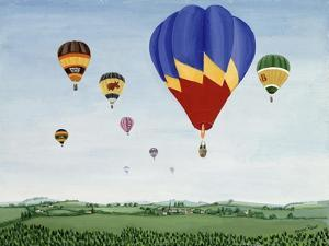 Ballooning over the Cotswolds by Maggie Rowe