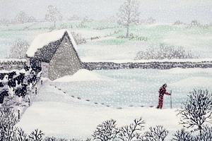 Cotswold Farm in Winter by Maggie Rowe