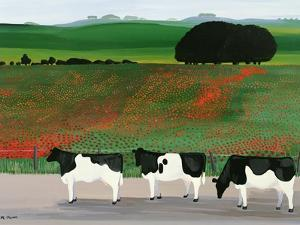 Cows and Poppies by Maggie Rowe