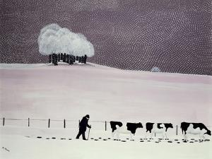 Cows in a Snowstorm by Maggie Rowe