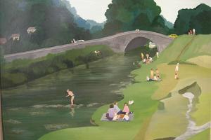 Riverside Picnic, 1989 by Maggie Rowe