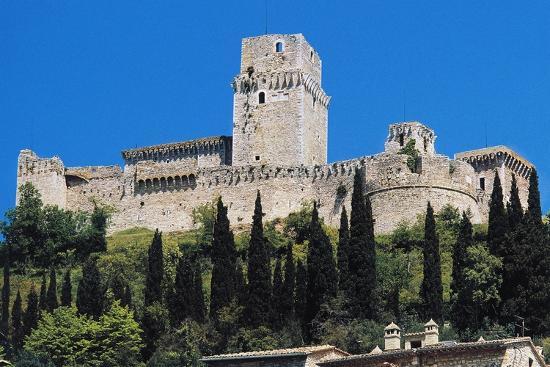 Maggiore Fortress, Medieval Origin, Assisi, Umbria, Italy--Photographic Print