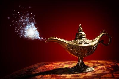 Magic Aladdins Genie Lamp-Brian Jackson-Photographic Print