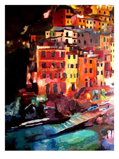 Magic Cinque Terre Night In Riomaggiore-M Bleichner-Art Print