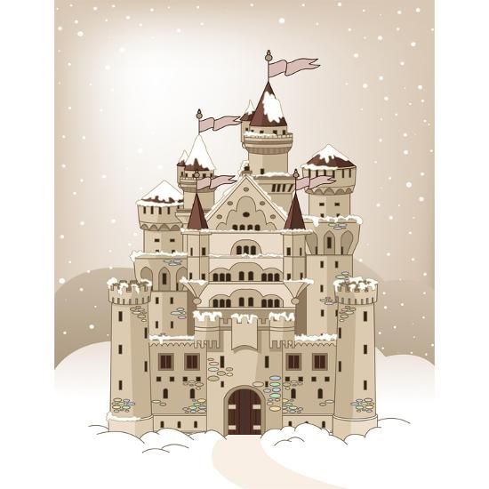 Magic Fairy Tale Winter Princess Castle. Raster Version.-Dazdraperma-Photographic Print