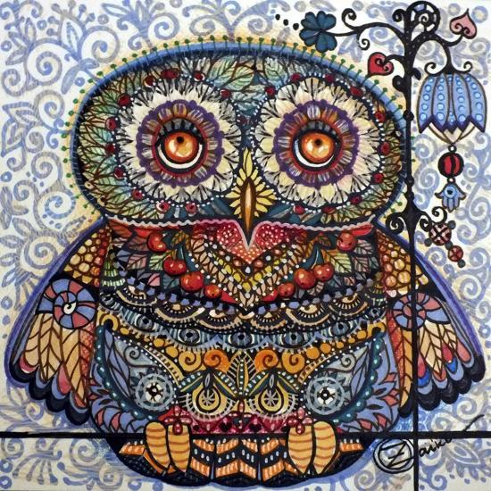 Magic Graphic Owl-Oxana Zaika-Giclee Print