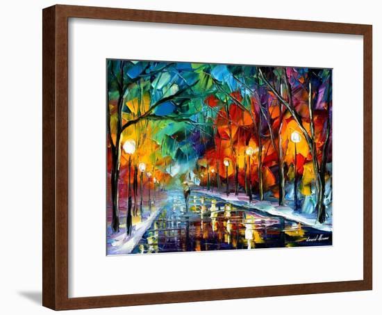 Magic Walk-Leonid Afremov-Framed Art Print