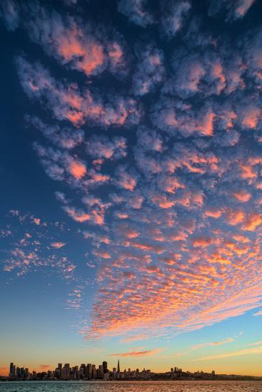 Magical Clouds Over San Francisco - City and Cloud Design, California-Vincent James-Photographic Print