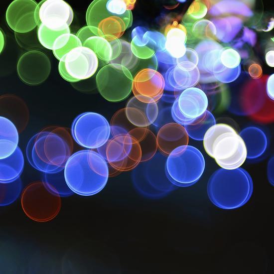 Magical Lights Background-kai zhang-Photographic Print