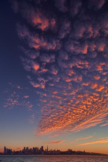 Magical Popcorn Clouds Over San Francisco Skyline Treasure Island-Vincent James-Photographic Print