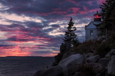 Magical Sunset at Bass Harbor Lighthouse, Maine-Vincent James-Photographic Print