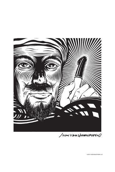 Magician - John Van Hamersveld Poster Artwork-Lantern Press-Art Print