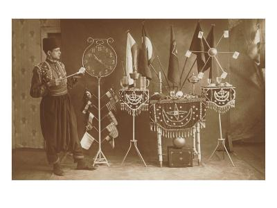 Magician with Props--Art Print