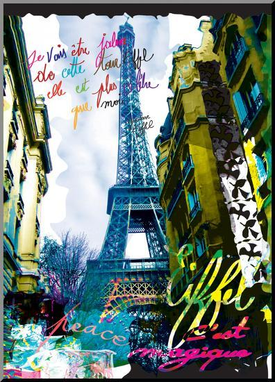 Magique Eiffel-Kaly-Mounted Print