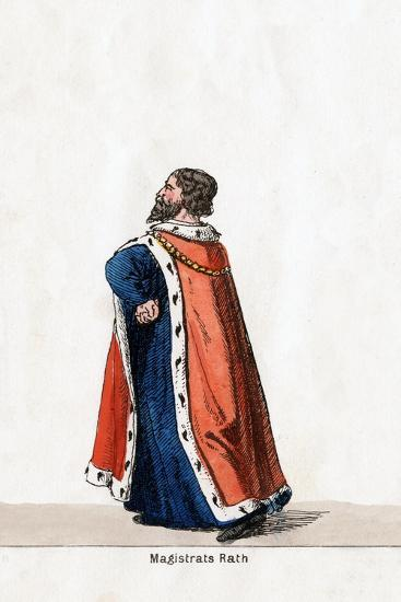 Magistrate, Costume Design for Shakespeare's Play, Henry VIII, 19th Century--Giclee Print