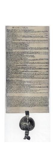 Magna Carta, English charter originally issued in 1215. Artist: Unknown-Unknown-Giclee Print