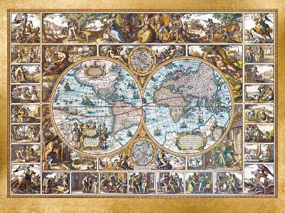 Magna Carta Mundi (Foil)-Nicolaus Ioannis Vischerius-Art Print