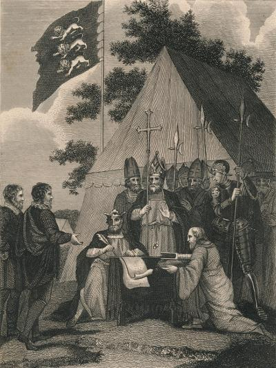 Magna Charter Signed by King John, 1215--Giclee Print