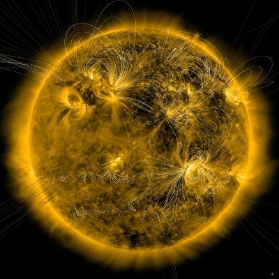 Magnetic Field Lines on the Sun-Stocktrek Images-Photographic Print
