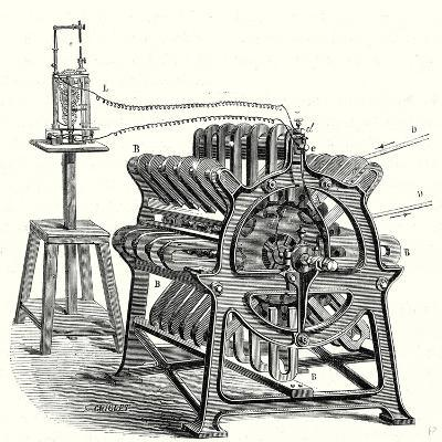 Magneto-Electric Machine from the Alliance Company--Giclee Print