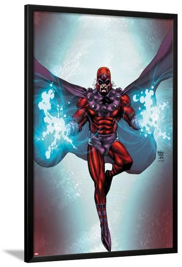 Magneto No.1 Cover: Magneto Flying-Roger Cruz-Lamina Framed Poster