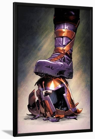 Magneto: Not a Hero No.3 Cover: Magneto Crushing his Helmet-Clay Mann-Lamina Framed Poster